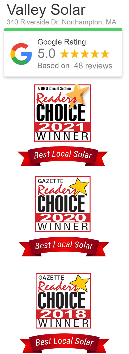 Valley Solar is the area's highest rated solar provider!